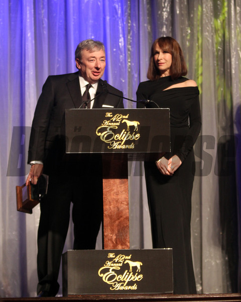 John Paul Reddam receives for I'll Have Another, Champion 3 Y O Male, 2013 Eclipse Awards at Gulfstream Park, FL<br /> Photos by Z