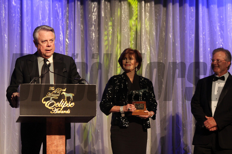 Ben Leon accepts for Royal Delta, Champion Older Female, 2013 Eclipse Awards at Gulfstream Park, FL<br /> Photos by Z