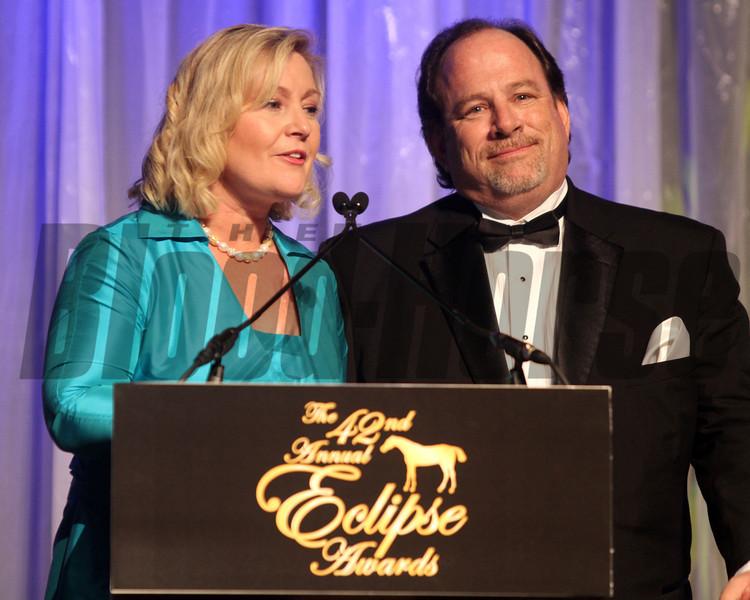 Caton Bredar and Lonnie Powell,  2013 Eclipse Awards at Gulfstream Park, FL<br /> <br /> Photos by Z
