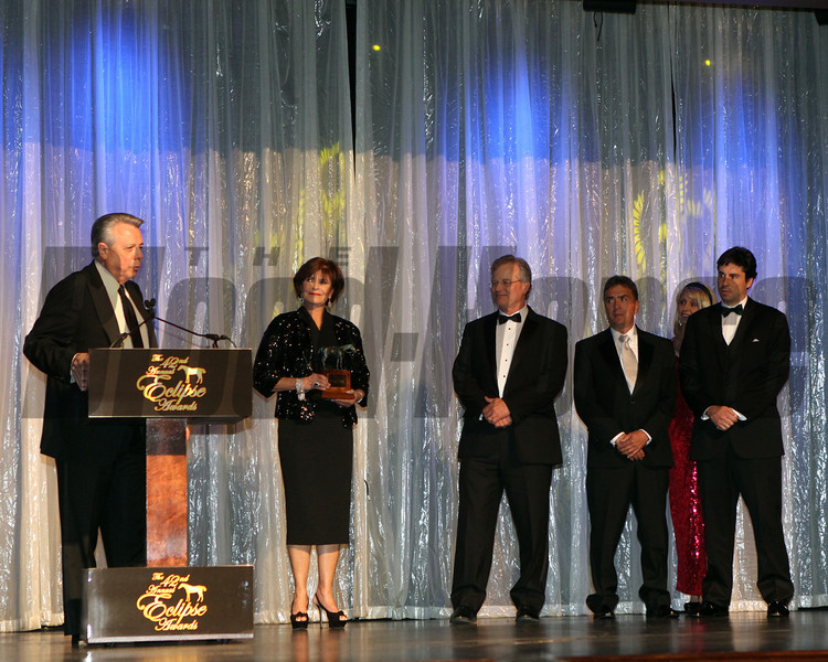 Ben Leon accepts for Royal Delta, Champion Older Female, 2013 Eclipse Awards at Gulfstream Park, FL<br /> <br /> Photos by Z