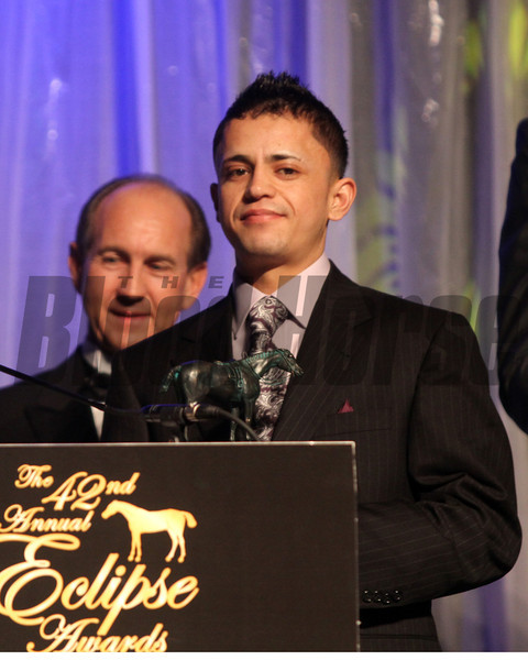 jose Montano outstanding apprentice jockey, 2013 Eclipse Awards at Gulfstream Park, FL<br /> Photos by Z