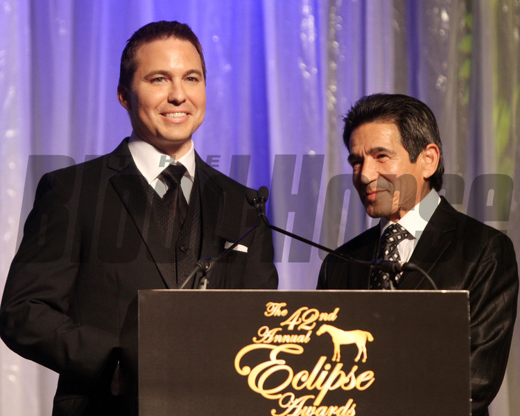 Laffit Pincay the third and dad pincay Jr., 2013 Eclipse Awards at Gulfstream Park, FL<br /> <br /> Photos by Z