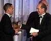 Jerry Bailey presents  jockey award to Javier Castellano, 2013 Eclipse winners