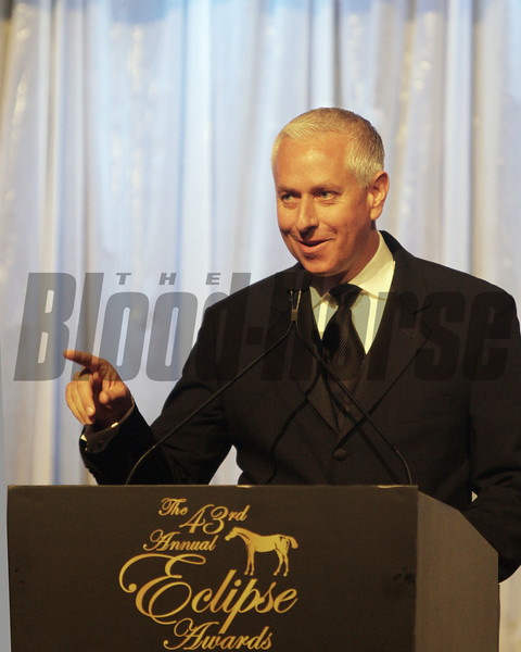 Todd Pletcher accepts for trainer of the year 2013 Eclipse winners