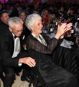 Willis Horton with his wife Glenda, Take Charge Brandi, Champion 2 year old filly, 2014 Eclipse Awards