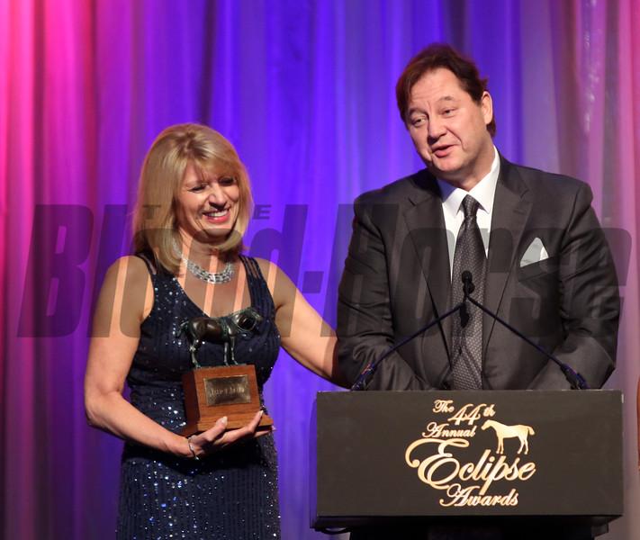 Karen and Richard Papiese,  Champion  Male Sprinter, 2014 Eclipse Awards