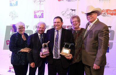 2014 Horse of the Year trainers Alan and Art Sherman and owners Mr/Mrs/ Steve Coburn. 2014 Eclipse Awards