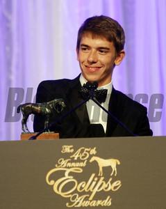 Tyler Gaffalione, 2015 Apprentice Jockey of the Year,  2015 Jockey of the Year,  2015 Eclipse Awards