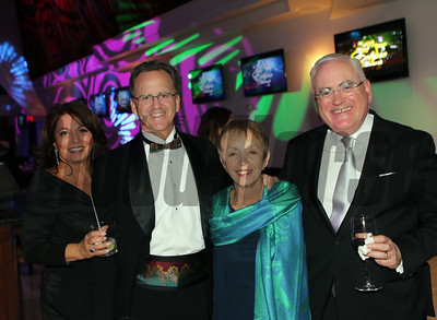 Sharon and John Phillips with Madeline Auerbach and John Noble  for the Aftercare Alliance Auction at the 46th annual Eclipse Awards, at Gulfstream Park, 2017