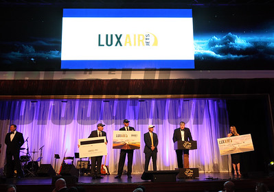 Luxair package donated for auction for the Thoroughbred Aftercare Alliance  at the 46th annual Eclipse Awards, at Gulfstream Park, 2017