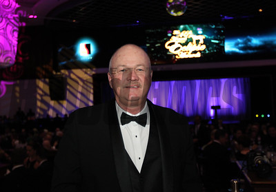Barry Robinette representing Clearsky Farm at the 46th annual Eclipse Awards, at Gulfstream Park, 2017