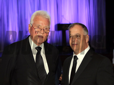 Tim Ritvo and Frank Stronach at the 46th annual Eclipse Awards, at Gulfstream Park, 2017