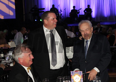 Boyd Browning, Frank Taylor and Jerry Hollendorfer share a laugh  at the 46th annual Eclipse Awards, at Gulfstream Park, 2017