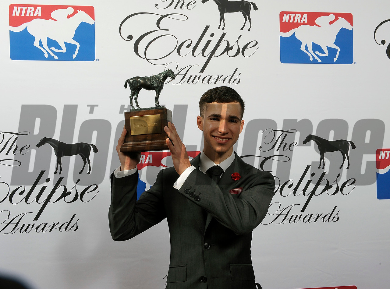 Evin Roman wins Apprentice Jockey of the Year at 2018 Eclipse Awards, Gulfstream Park, FL 1.25.2018