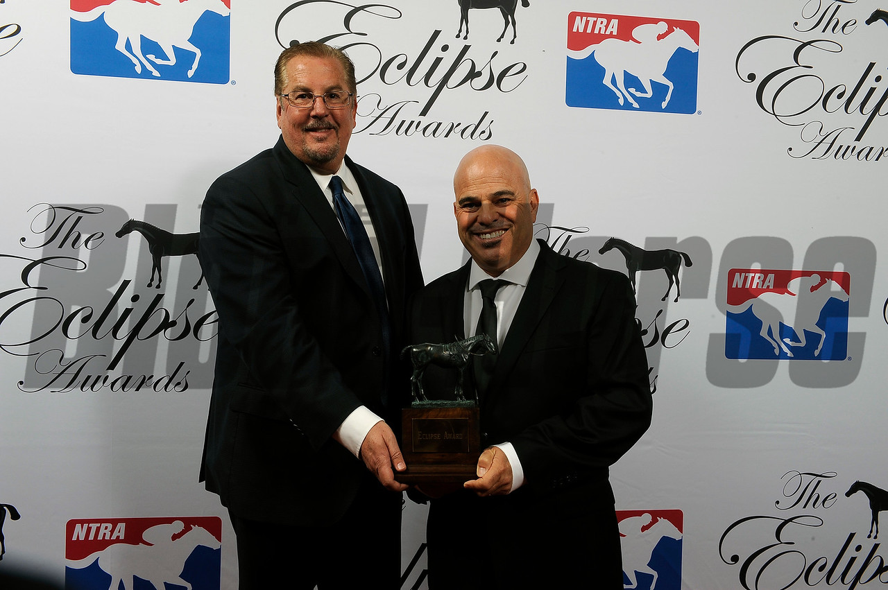 Trainer Peter Miller accepts award for Roy H Eclipse Award Winner for Male Sprinter at 2018 Eclipse Awards, Gulfstream Park, FL 1.25.2018
