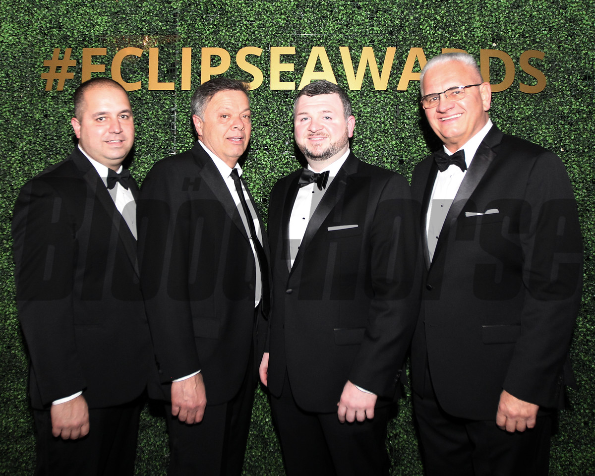Jerry Artz far right, friends of agent for Jose Ortiz, Eclipse Awards, 2018 , Gulfstream Park