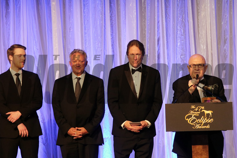 Charles Fipke accepts the 2017 Eclipse Award for Older Female, Forever Unbridled  2018 , Gulfstream Park