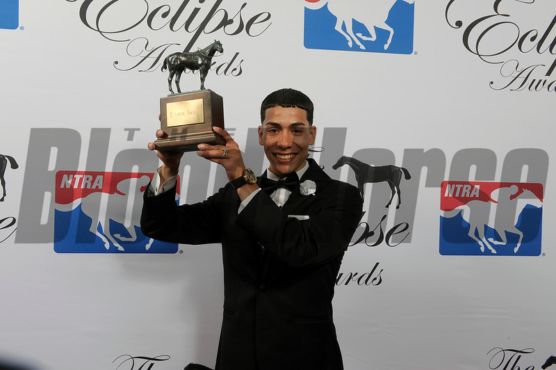 Jose Ortiz wins Jockey of the Year at 2018 Eclipse Awards, Gulfstream Park, FL 1.25.2018