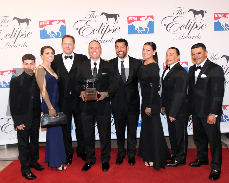Sol KuminCleary accepts the 2017 Eclipse Award for Female Turf-Lady Eli, 2018 , Gulfstream Park