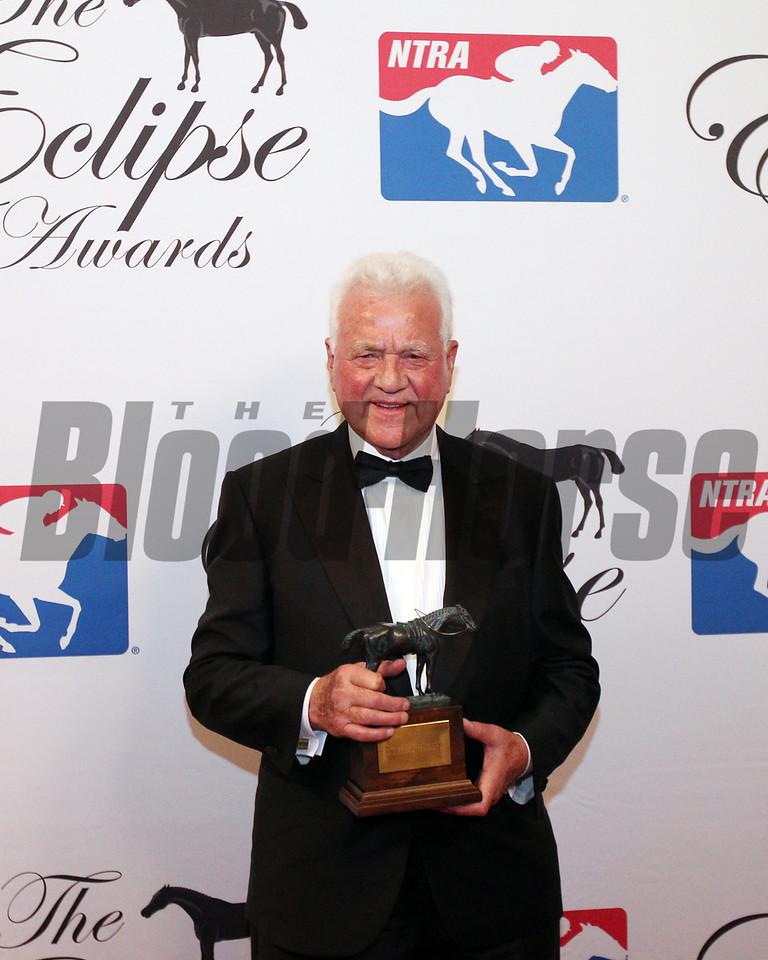 Frank Stronach accepts the 2017 Eclipse Merit Award  2018 , Gulfstream Park