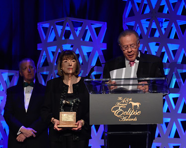 Owners Gary and Mary West accept the award for two year old colt Game Winner credit Leslie Martin2