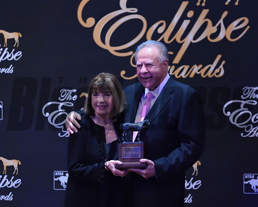 Owners Gary and Mary West accept the award for two year old colt Game Winner credit Leslie Martin