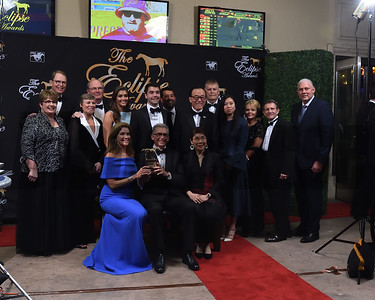 Connections acceot horse of the year award for Justify credit Leslie Martin