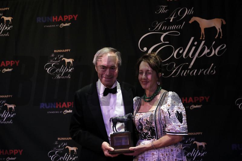 Julia Jenkins, George Strawbridge, Breeder, 2019 Eclipse Awards at Gulfstream Park, Fort Lauderdale Fl held January 23, 2020
