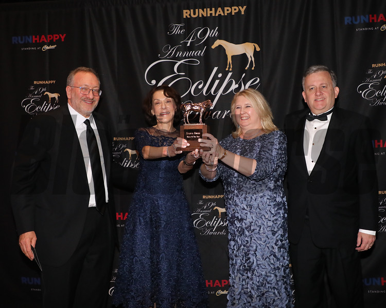 Seth Klarman,Bill Lawrence and wives,  Horse of the Year, 2019 Eclipse Awards at Gulfstream Park, Fort Lauderdale Fl held January 23, 2020