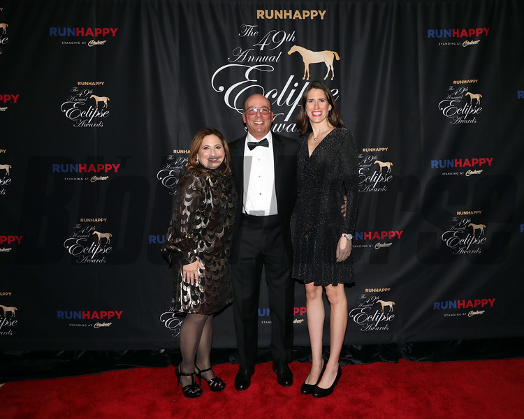 Stuart Grant and wife Suzanne,  and Anna Seitz on right, 2019 Eclipse Awards at Gulfstream Park, Fort Lauderdale Fl held January 23, 2020