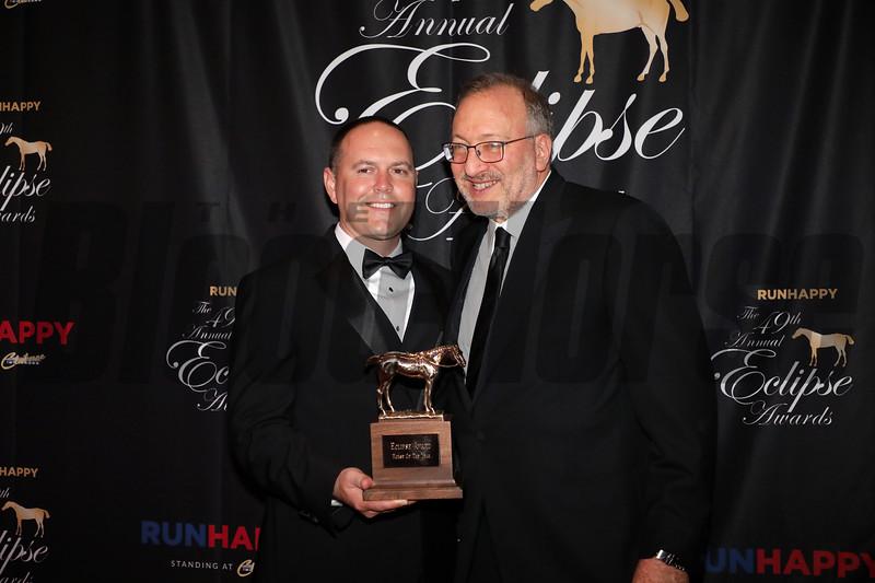 HOY, Chad Brown Seth Klarman, 2019 Eclipse Awards, Gulfstream Park, January 23, 2020