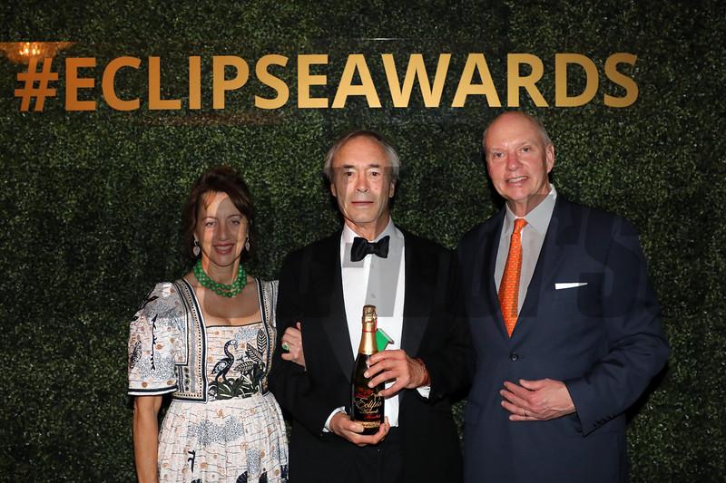 Julia Jenkins, George Strawbridge, Breeder,  with Headley Bell, 2019 Eclipse Awards at Gulfstream Park, Fort Lauderdale Fl held January 23, 2020