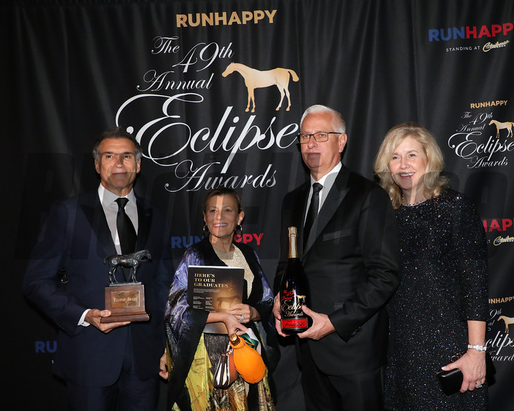 Vinnie Viola, wife Teresa, Todd Pletcher and wife Tracy, Older Male, 2019 Eclipse Awards at Gulfstream Park, Fort Lauderdale Fl held January 23, 2020