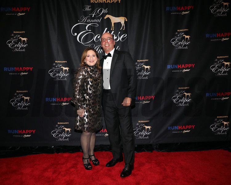 Stuart Grant and wife Suzanne, 2019 Eclipse Awards at Gulfstream Park, Fort Lauderdale Fl held January 23, 2020