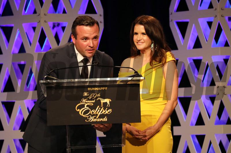 Scott Hazelton, Christina Blacker, 2019 Eclipse Awards at Gulfstream Park, Fort Lauderdale Fl held January 23, 2020