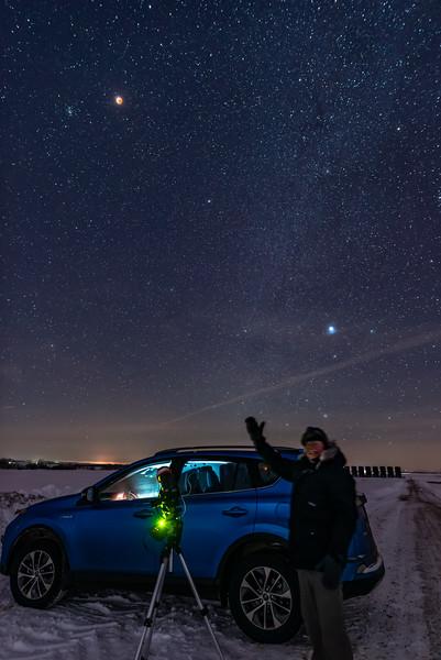 Success Selfie with Lunar Eclipse (Jan 20, 2019)