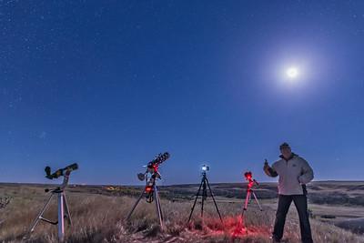 Selfie Success Shot at Lunar Eclipse