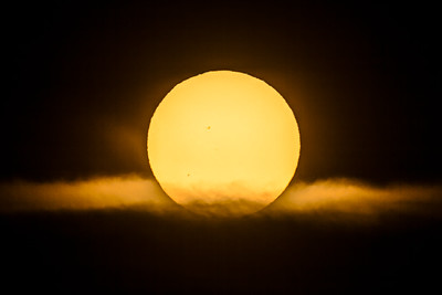 Transit of Mercury near Sunrise