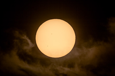 Transit of Mercury in Clouds