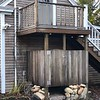 [AFTER] Pine Panelling with Outdoor Shower