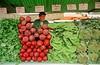 A man sells vegetables in a street market in Sao Paulo. (Douglas Engle/Australfoto)
