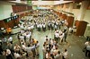 Stock traders works on the floor of the Sao Paulo stock exchange (BOVESPA). (Douglas Engle/Australfoto)