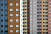 A colorful apartment complex in Sao Paulo, Brazil, Jan. 18, 2006. The city has an area of 1,575 square kilometres (575 sq miles) and a population of approximately 10 million (according to CityMayors, 2005), which makes it the largest city in Brazil and South America and the second largest in the world. About 20 million people live in the S‹o Paulo metropolitan area, which is currently ranked as the fourth-largest in the world and by far the largest in the Southern Hemisphere.  (Australfoto/Douglas Engle)