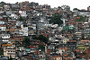 """A view of the Rocinha slum in Rio de Janeiro, Brazil. Slums are traditionally made by the poor, with little education or formal work, who squat on land because they have no access to credit or """"official"""" housing.(Australfoto/Douglas Engle)"""