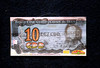 Photo of a bill, social currency Cidade de Deus, issued by the Community Bank of Cidade de Deus, Rio de Janeiro, Brazil, September 15, 2011.  The Brazilian favela City of God, received today the first branch of Community Bank, as a new experience to stimulate the activity economic in poor communities. (Austral Foto/Renzo Gostoli)