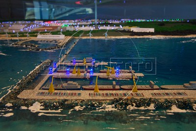 """A model of Eike Batista's  """"Super Port"""" in Sao Joao da Barra, about 350 km north of Rio de Janeiro in Rio de Janeiro state. The port is the largest port investment in Brazil and will have capacity for the largest ships in the world. Steel, Oil, Gas, and Ship building and part of the planned industrial complex of 90 square km near the port. (Australfoto/Douglas Engle)"""