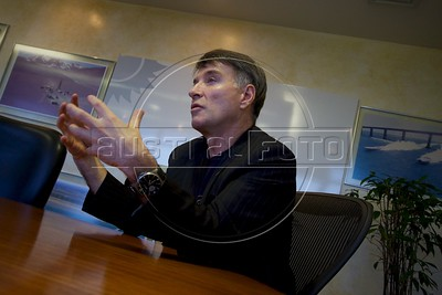 "Eike Batista of EBX in his office in Rio de Janeiro, and his ""Super Port"" in Sao Joao da Barra, about 350 km north of Rio de Janeiro in Rio de Janeiro state. The port is the largest port investment in Brazil and will have capacity for the largest ships in the world. Steel, Oil, Gas, and Ship building and part of the planned industrial complex of 90 square km near the port. (Australfoto/Douglas Engle)"