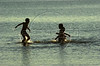 Bathers swim in the artificial lake formed by the Itaipu Hydroelectric plant.(Douglas Engle/Australfoto)