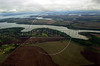 A view of the artificial lake formed by the Itaipu Hydroelectic plant in Foz do Iguacu, Brazil.(Douglas Engle/Australfoto)