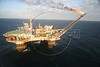 Petrobras' P-18 Platform in the Campos Basin, of the Atlantic Ocean, off the coast of Rio de Janeiro, June 1, 2006.(Douglas Engle/Australfoto)
